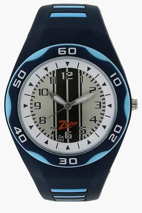 White Dial Plastic Strap Watch - NEC3022PP01C