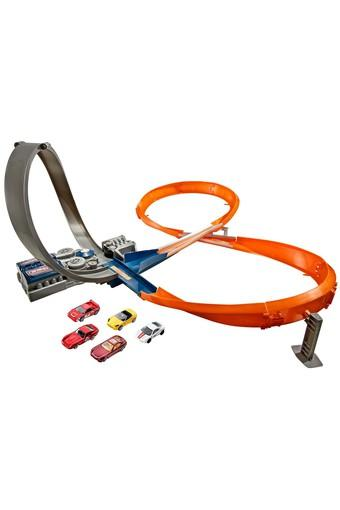 Unisex Deep Loop Raceway Track with 5 Cars