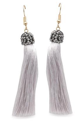 Womens Tassel and Stone Drop Earrings