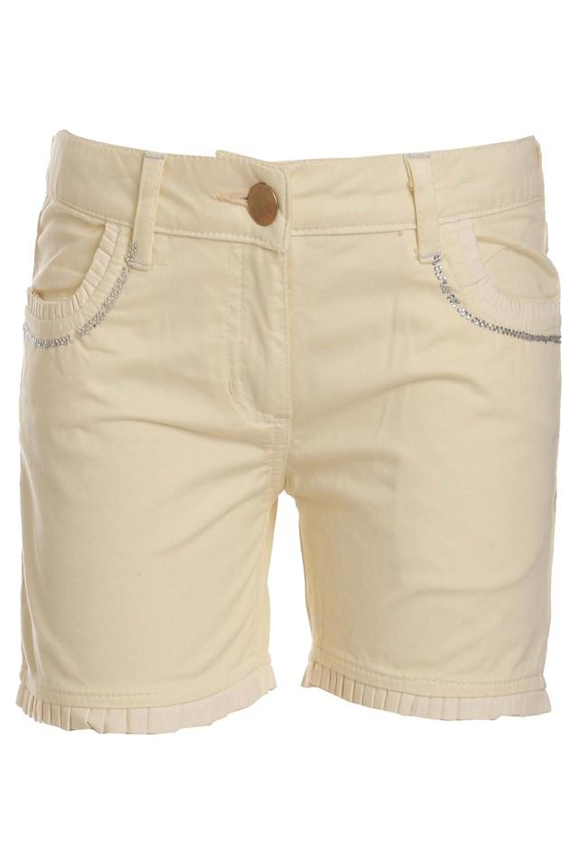 Girls Solid Woven Shorts