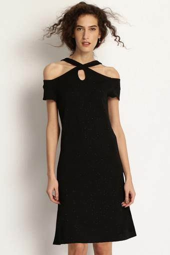 Womens Solid Sheath Dress