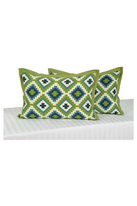 SWAYAM Geometric Printed Pillow Cover Set Of 2