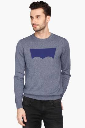 LEVISMens Round Neck Printed Sweater - 202728840