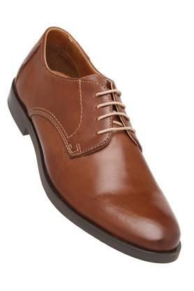 VENTURINI Mens Leather Lace Up Derbys - 204000294_9126