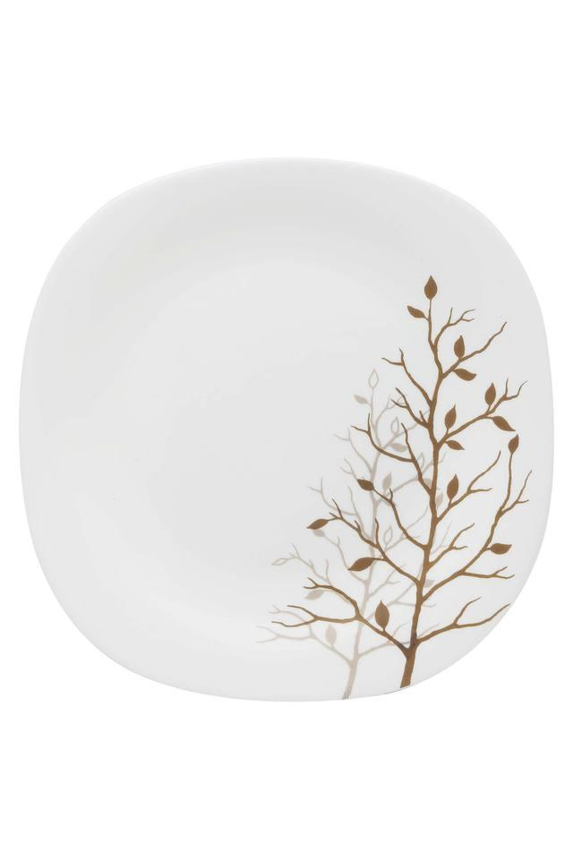 Autumnal Square Printed Quarter Plate