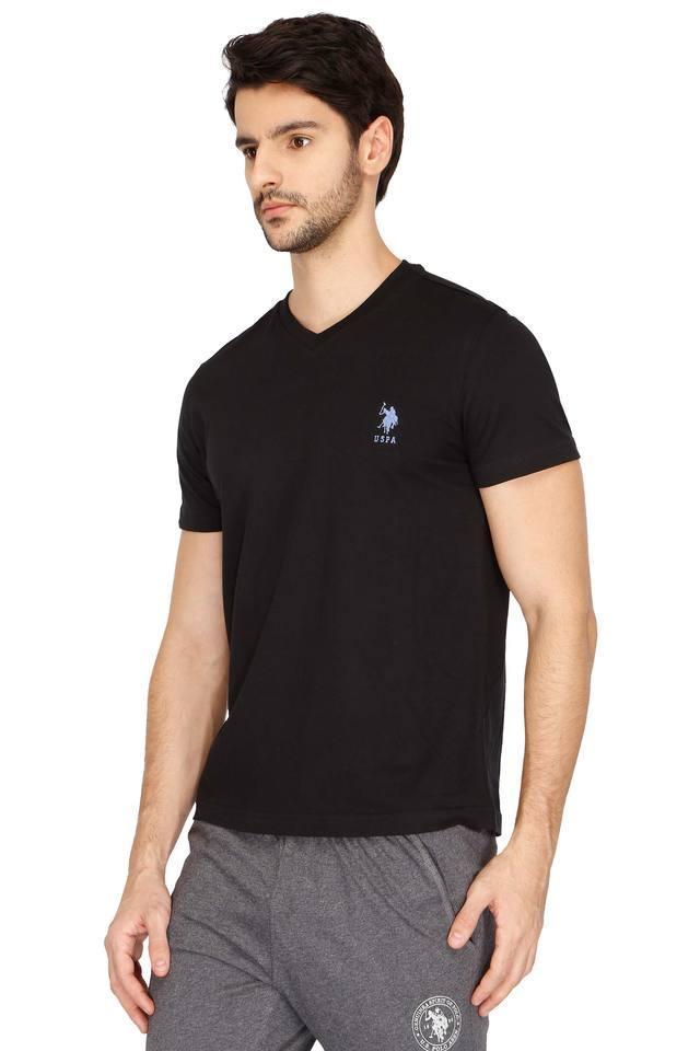 Mens V Neck Solid T- Shirt