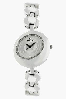 TITANWomens Silver White Dial Analog Watch - NJ2485SM01