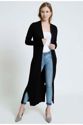 COVER STORY Womens Open Front Solid Cardigan