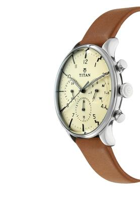 Mens Chronograph Leather Watch - 90102SL01