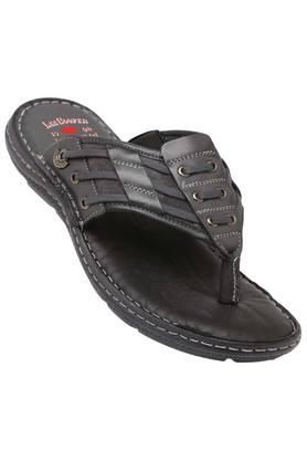 LEE COOPER Mens Leather Casual Wear Slippers - 203912134_9204