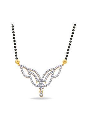 P.N.GADGIL JEWELLERSWomens Floral Dewy Diamond Tanmaniya - DTAN1438