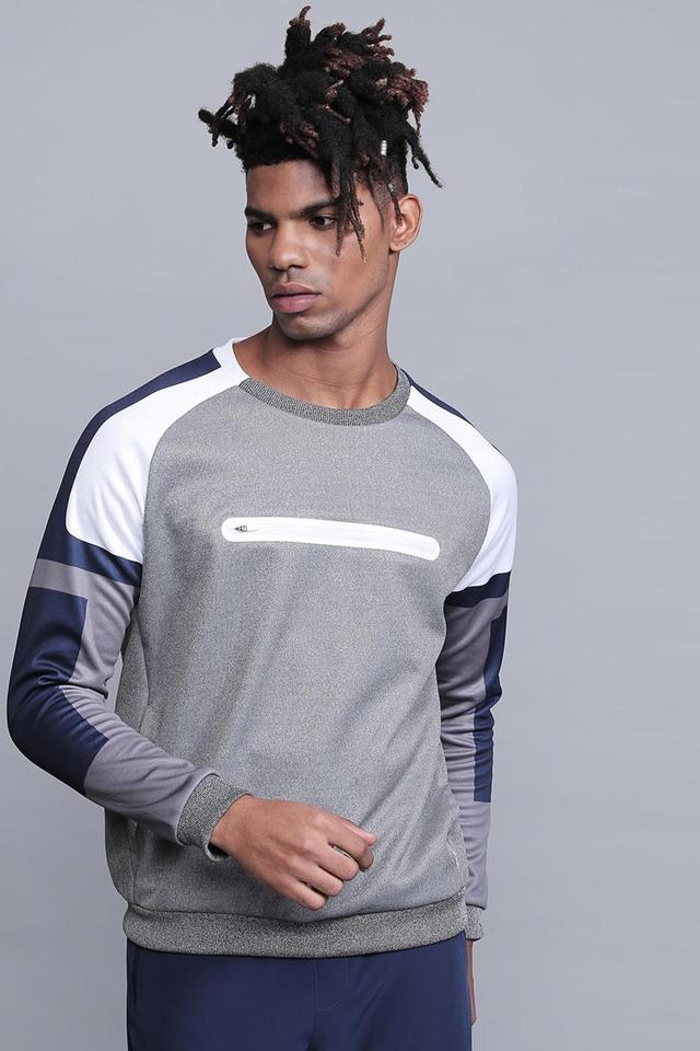 Mens Round Neck Slub Sweatshirt