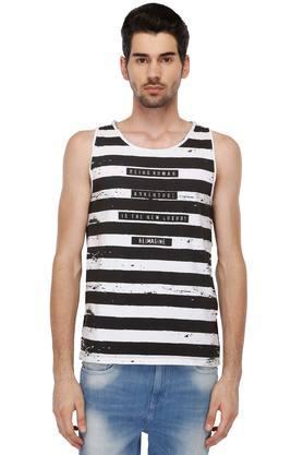 BEING HUMANMens Round Neck Stripe T-Shirt