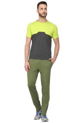 Mens 4 Pocket Solid Track Pants