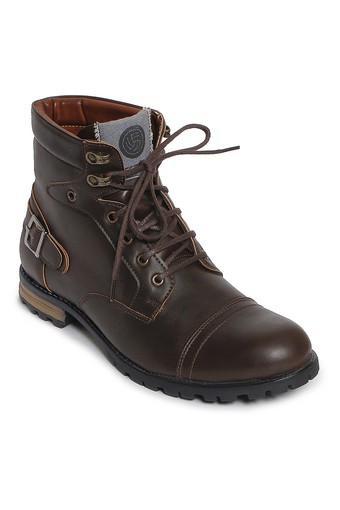 b2114ebfbe2 Mens PU Lace Up Boots