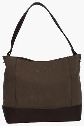 Womens Snap Closure Shoulder Handbag