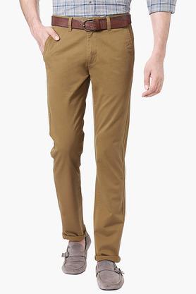 PETER ENGLANDMens Extra Slim Fit 4 Pocket Solid Chinos - 202966173