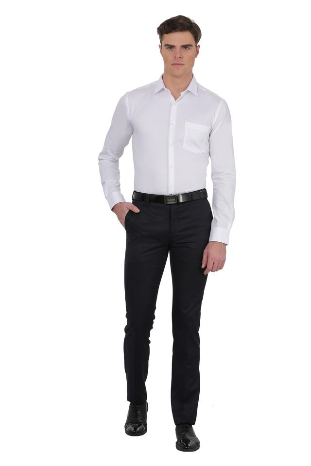 Mens Self Printed Formal Shirt