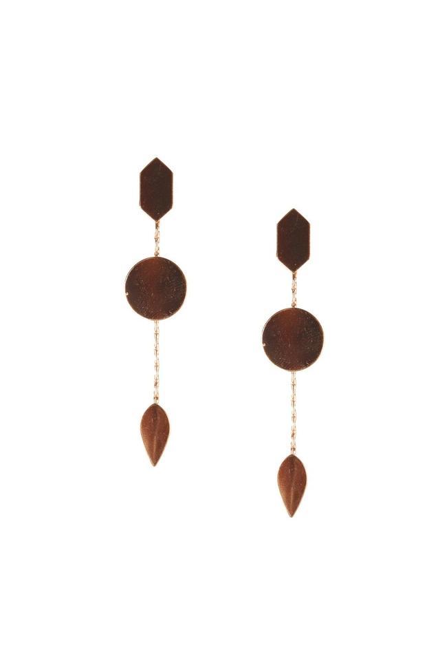 Womens Long Geometric Dangler Earrings