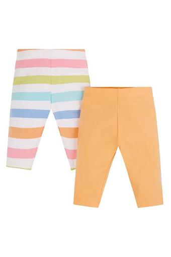be1f3c045ccd6 Buy MOTHERCARE Girls Striped and Solid Full Length Leggings - Pack of 2 |  Shoppers Stop