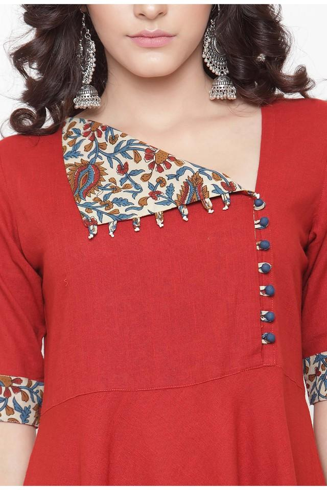 Women Cotton Solid Empire Waist dress
