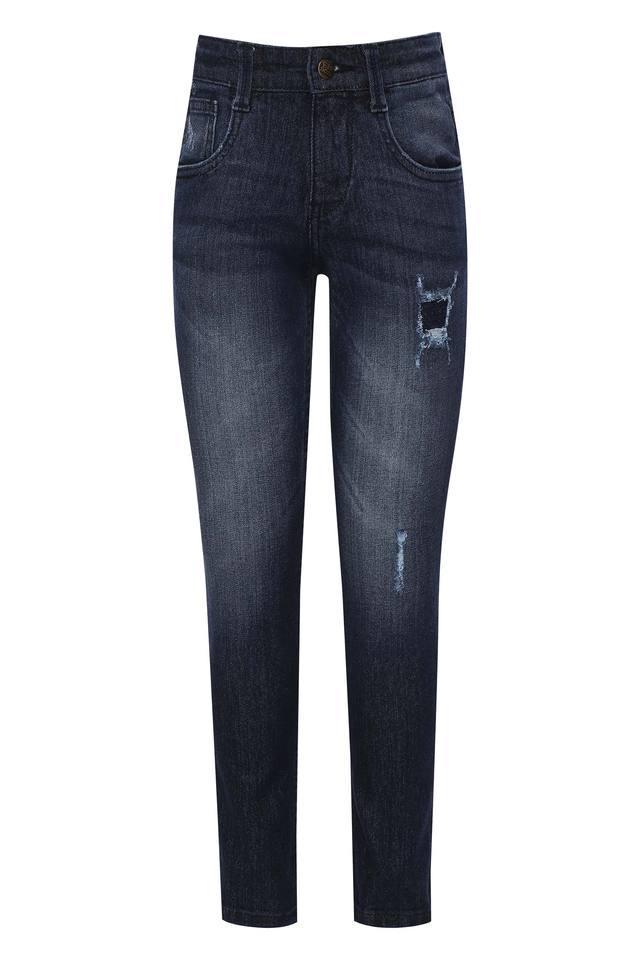 Boys 5 Pocket Distressed Jeans
