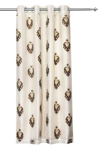 Sheer Embroidered Extra Large Door Curtain