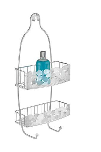 Pebblz Hanging 2 Stack Shower Caddy with Storage Shelves