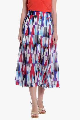 LOVEGEN Womens Printed Midi Skirt