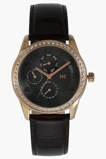 Womens Chronograph Leather Watch - W521E