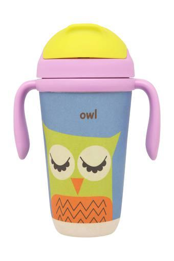 Kids Printed Owl Sipper with Straw