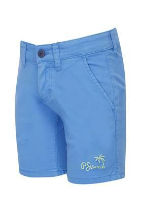 Boys 3 Pocket Solid Shorts