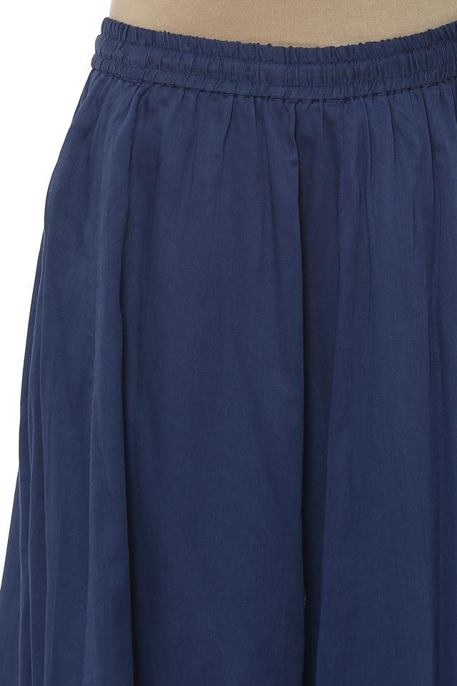 Womens Round Neck Printed Palazzo Suit