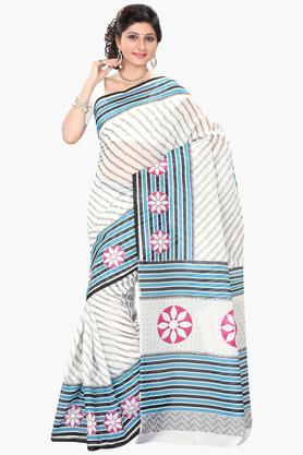 DEMARCA Womens Cotton Blend Printed Saree - 203229494