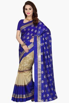 ISHINWomens Bhagalpuri Art Silk Printed Sarees