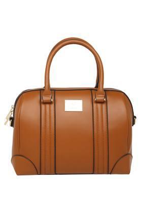 ALLEN SOLLYWomens Zipper Closure Satchel Handbag - 204527441_9124
