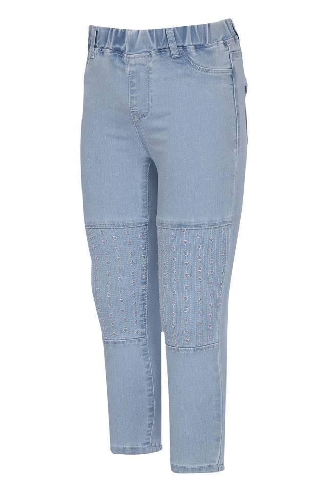 Girls 4 Pocket Mild Wash Jeans
