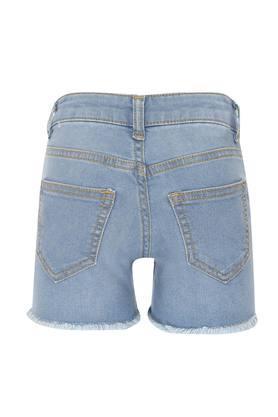 Girls 5 Pocket Washed Shorts