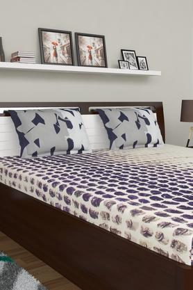 SPACESPrinted Double Bed Sheet With Pillow Cover