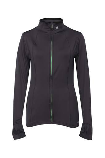 Womens High Neck Solid Jacket
