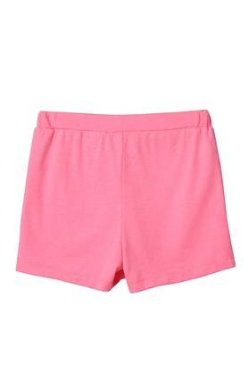 Girls 2 Pocket Solid Shorts