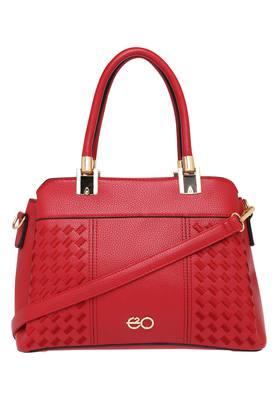 E2O Womens Zipper Closure Satchel Handbag - 203461141_9308