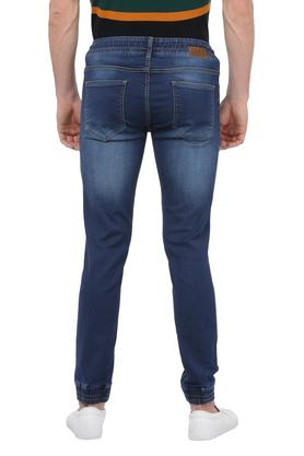 Mens 5 Pocket Whiskered Effect Core Jogger Jeans
