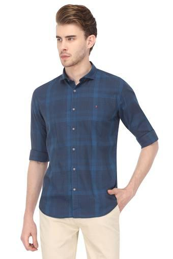 LOUIS PHILIPPE SPORTS -  Mid Blue Shirts - Main