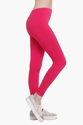 Womens Full Length Solid Leggings