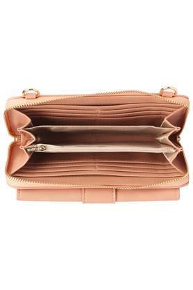 Womens Zip Closure Sling Wallet