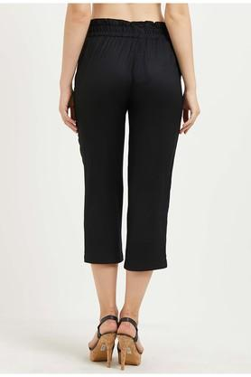Womens Solid Cropped Pants