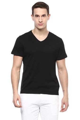 Mens Slim Fit V-Neck Solid T-Shirt
