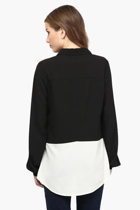 Womens Color Block Casual Shirt
