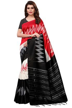 4203dfcb2c5521 X ISHIN Womens Printed Saree with Blouse Piece. ISHIN. Womens Printed Saree  with Blouse Piece .